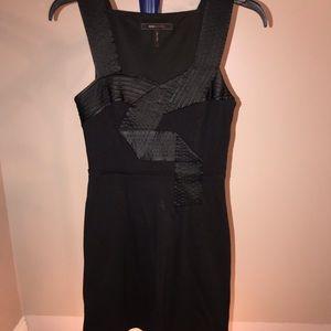 bcbgmaxazria black mini dress